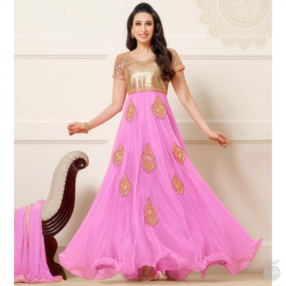 Mauve pink anarkali style wear pinterest mauve anarkali and