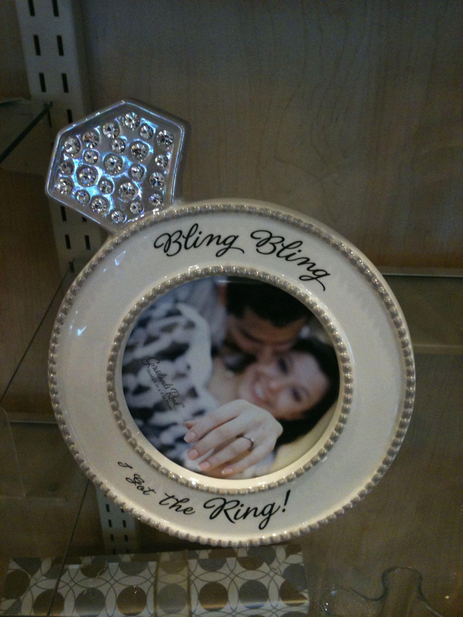 Bling Bling I Got The Ring Frame At Anns Hallmark Store In Nj