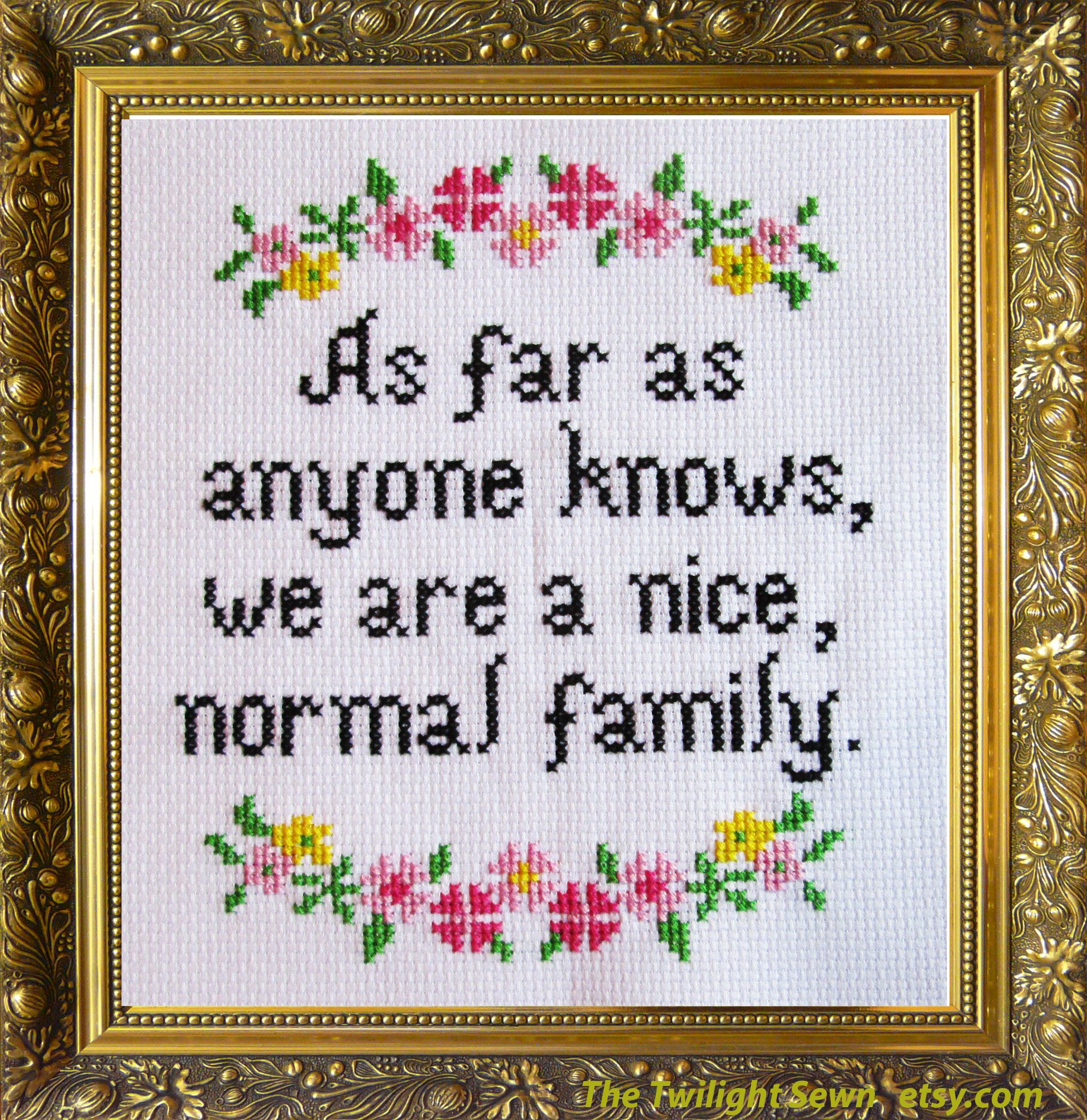 Photo of Nice, Normal Family – cross stitch pattern pdf instant download