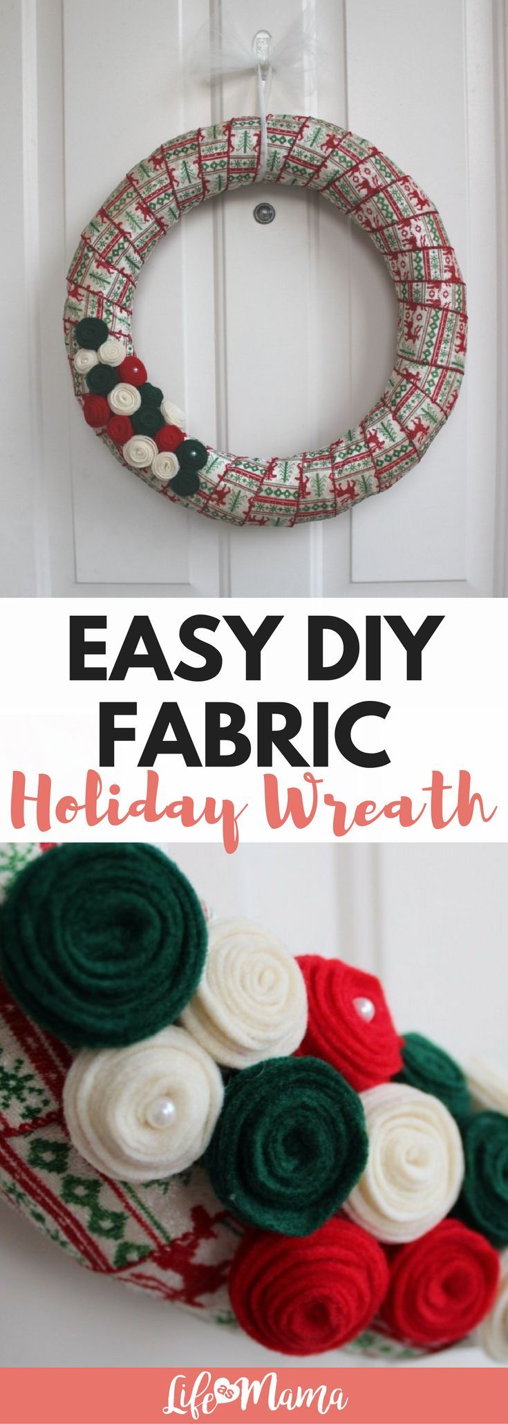 Photo of Simple DIY fabric Christmas wreath – EVERY mother can do that!