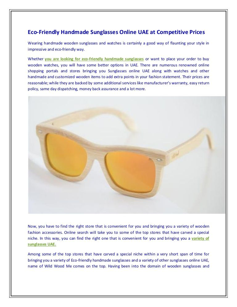 ac2b4789689d Eco friendly  handmade  sunglasses online uae at competitive prices ...