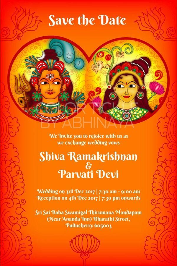 Kerala Mural Wedding Invitation Explore More At Www Colortickle Com Wedding Invitation Design Wedding Invitation Cards Wedding Invitations