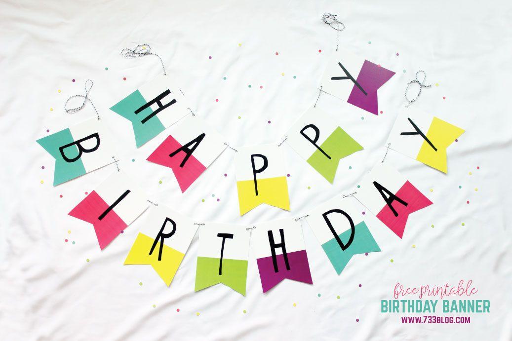 rainbow birthday banner and printable pack ว นเก ด pinterest