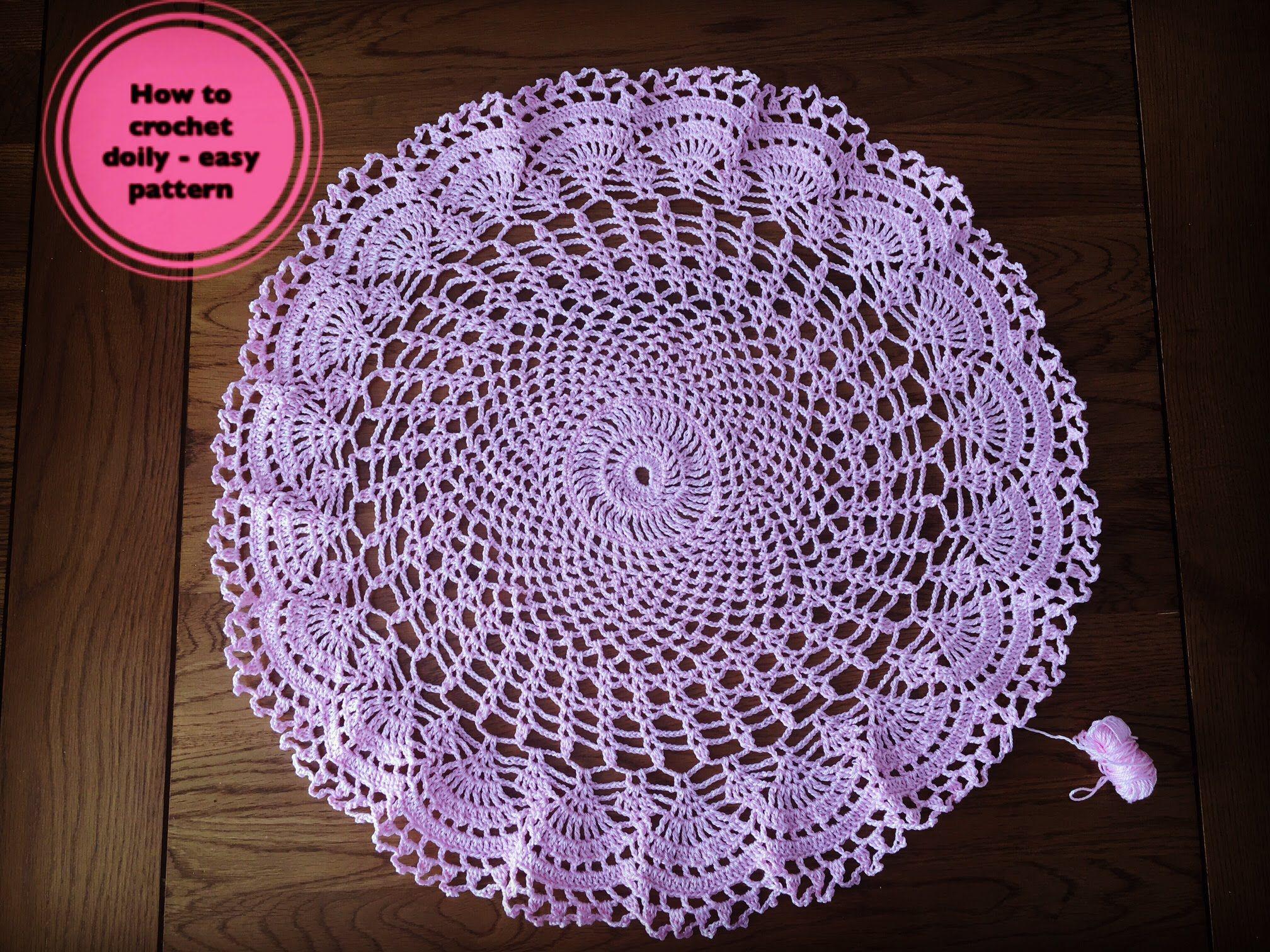 How to crochet doily - easy pattern | crochet doily, mandala ideas ...