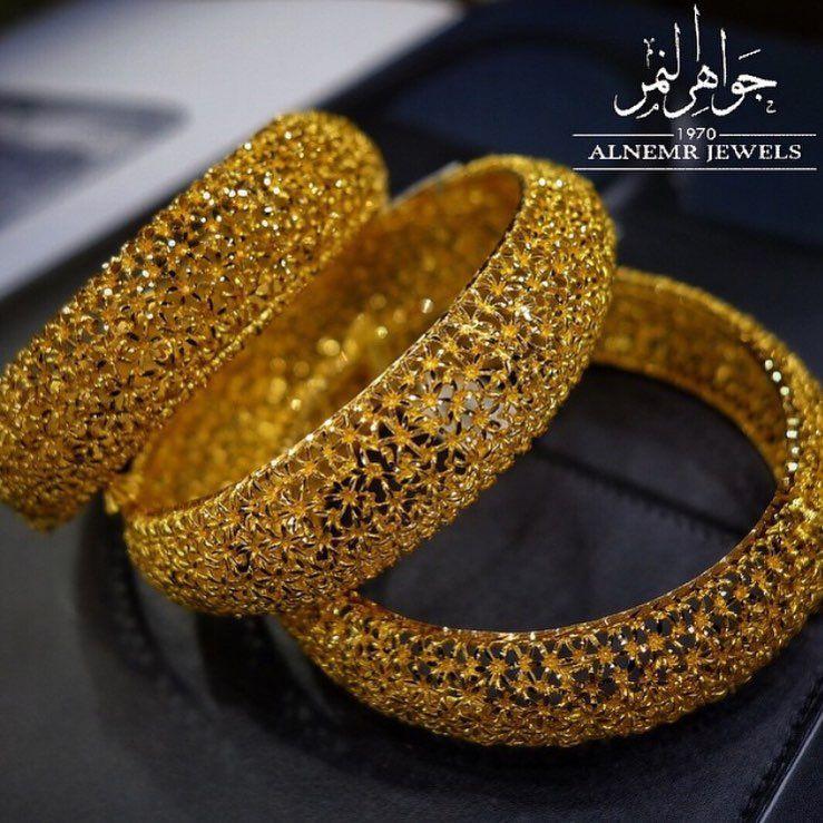 جواهر النمر للمجوهرات On Instagram الذهب زينه و خزينه اساور عريضه المنثوره ذهب عيار ٢١ ص Bangles Jewelry Designs Gold Jewelry Outfits Gold Bangles Design