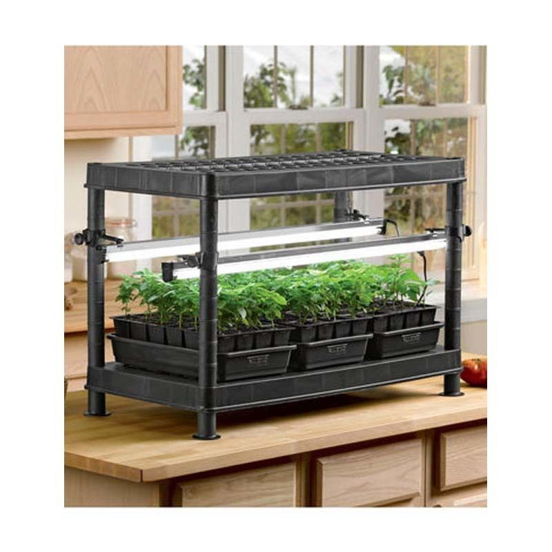 Gardeners StacknGrow Light System Shown On Counter