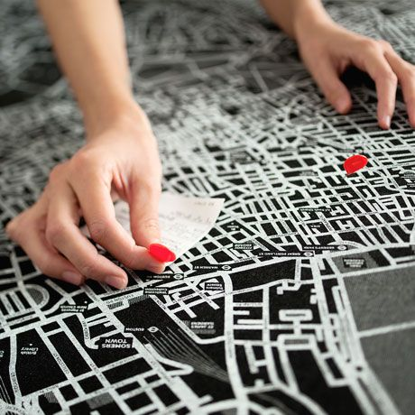 Eco friendly felt city maps by palomar featuring maps of world eco friendly felt city maps by palomar featuring maps of world cities as well as a world map each doubles as a pin board to mark your favourite locations gumiabroncs Image collections