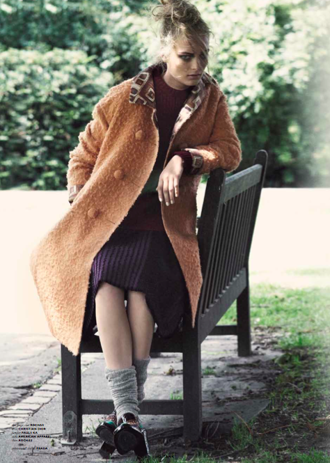 Vol.7, issue 6. 'Mix up, look smart'. Photography by Toby Knott and styling by Maya Zepinic. Coat: Rochas