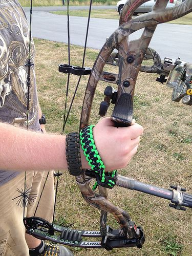 Archery Shooting Compound Bow Wrist Sling Cord String Rope with Buckle Black