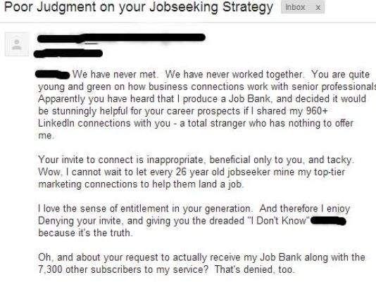 Scathing LinkedIn rejection letter goes viral Web Pinterest - job rejection letter