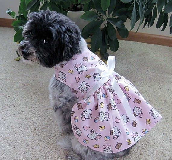 5ccf8cee6 hello kitty dogs dress | Custom Made Hello Kitty Dog Harness Dress  Beautiful Summer Dresses,