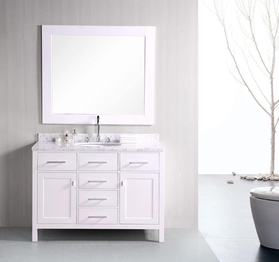 Traditional 48u201d Single Sink Bathroom Vanity Traditional