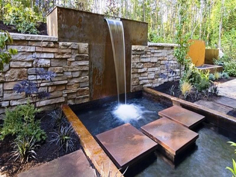 Modern Garden Fountains Water Features Water Features In The