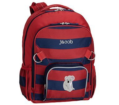 Fairfax Red Navy Rugby Stripe Backpacks Striped Backpack