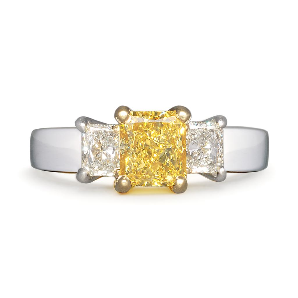 Diana Vincent Entre Nous Three Stone Engagement Ring #alternative engagement ring #bridal