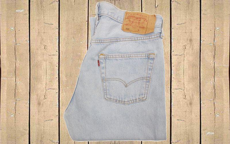 Vintage Levis 501 Mens Straight Leg Denim Jeans Light Blue UK 90s W33 L34 by BlackcatsvintageUK on Etsy