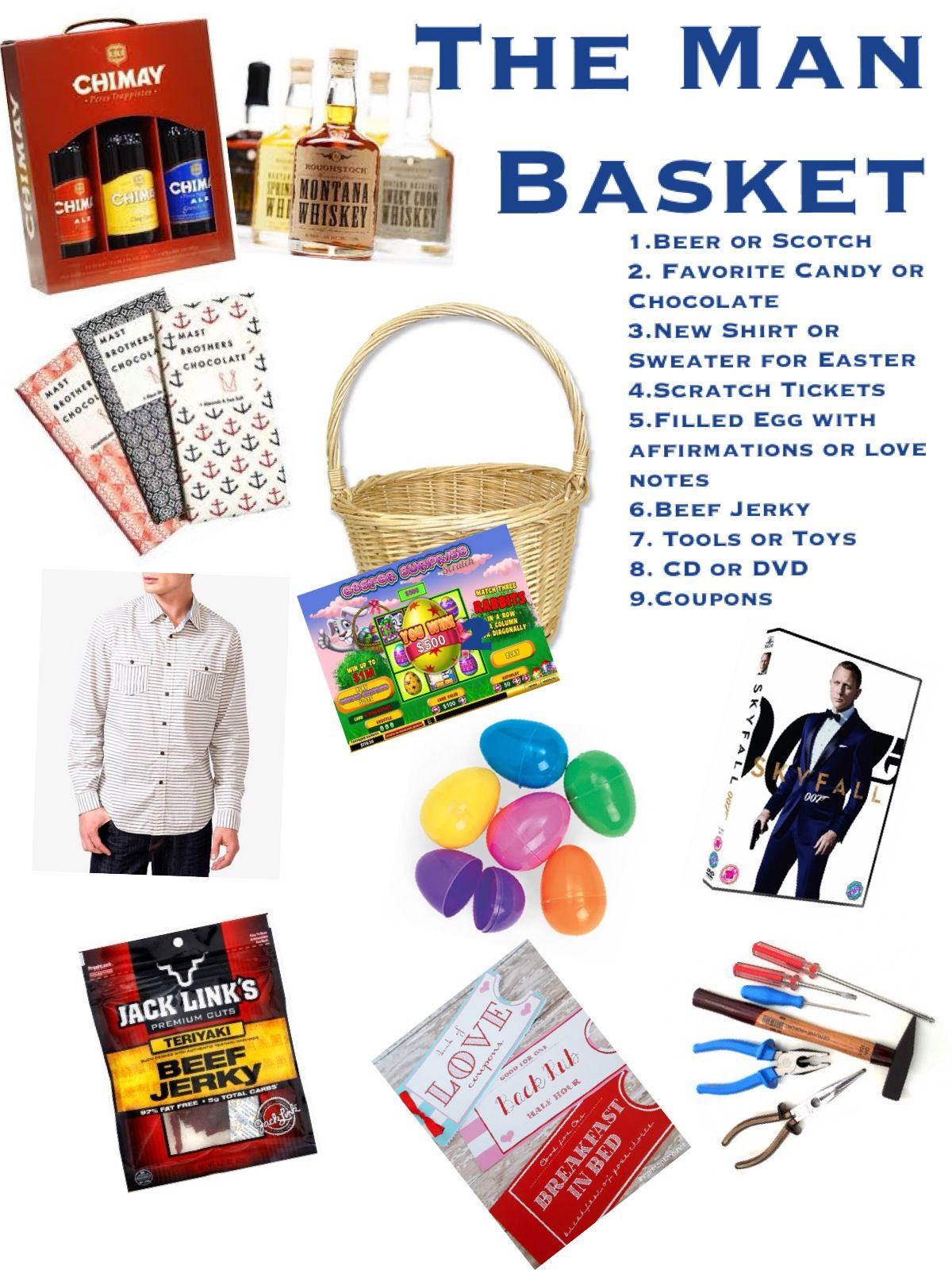 Man basket for the kid in all of our hubands triplet living cute ideas for a nice easter basket for stetson negle Image collections