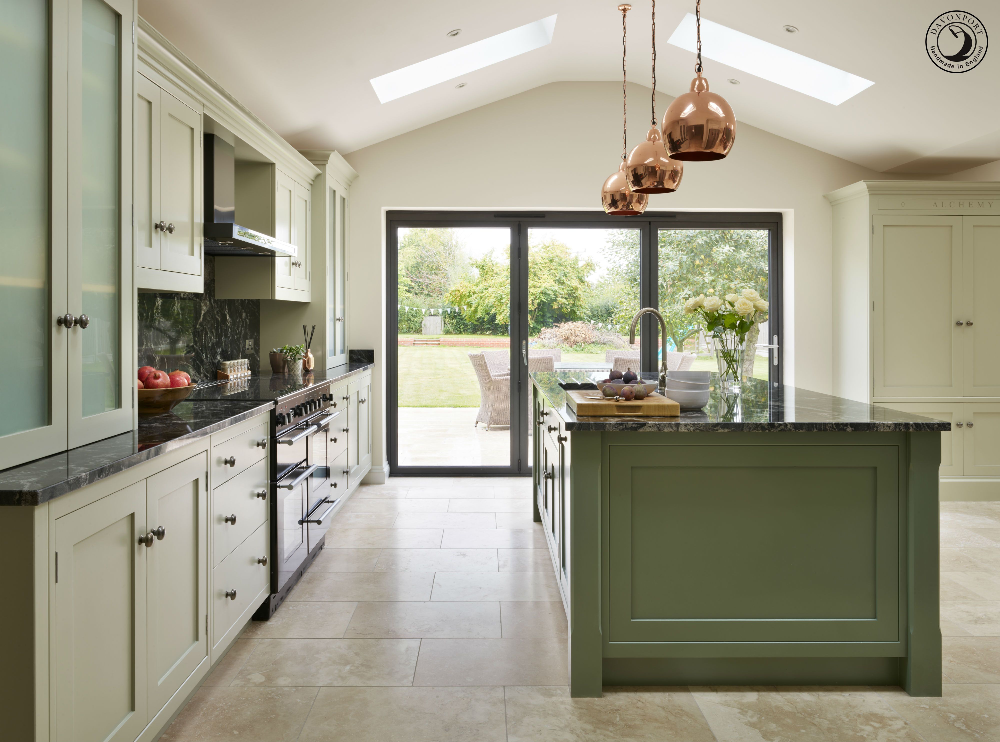 Joanne And Stuart Love The Outdoors And Spend Much Time As A Family Glampin Open Plan Kitchen Living Room Cottage Kitchen Inspiration Black Kitchen Countertops
