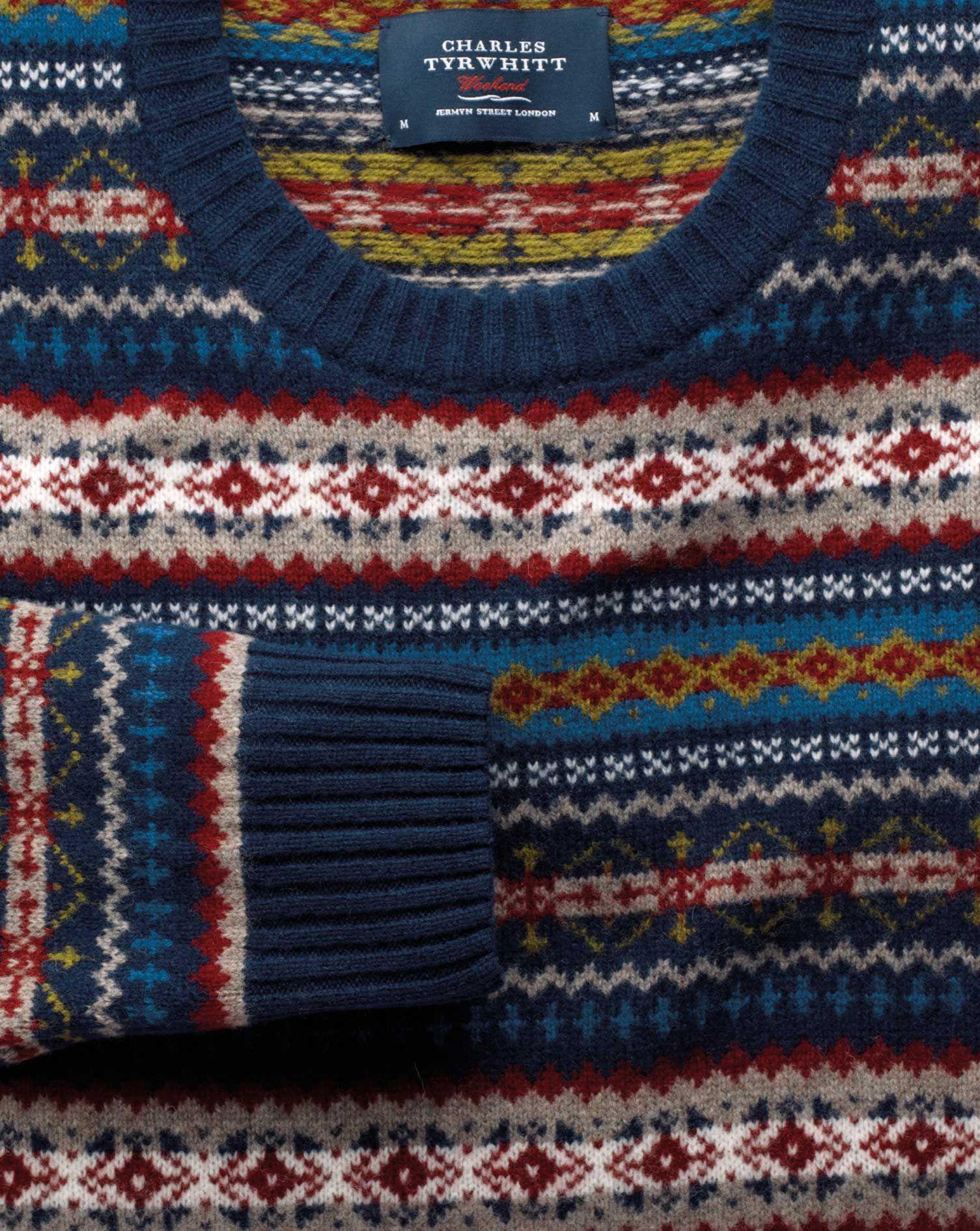 pullover mit rundhalsausschnitt mit fair isle muster - Fair Isle Muster