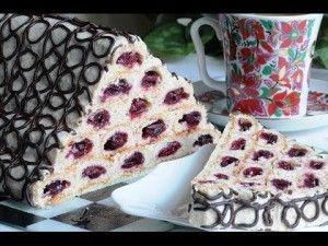 Cake with cherry Collegiate hut