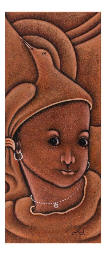 """Quadro """"Volto bimba"""" - Repubblica dominicana - Quadri dal mondo. http://www.solohechoamano.it/store/quadri/quadri-caraibi-rep-dominicana-haiti/quadro-volto-bimba-148.html"""