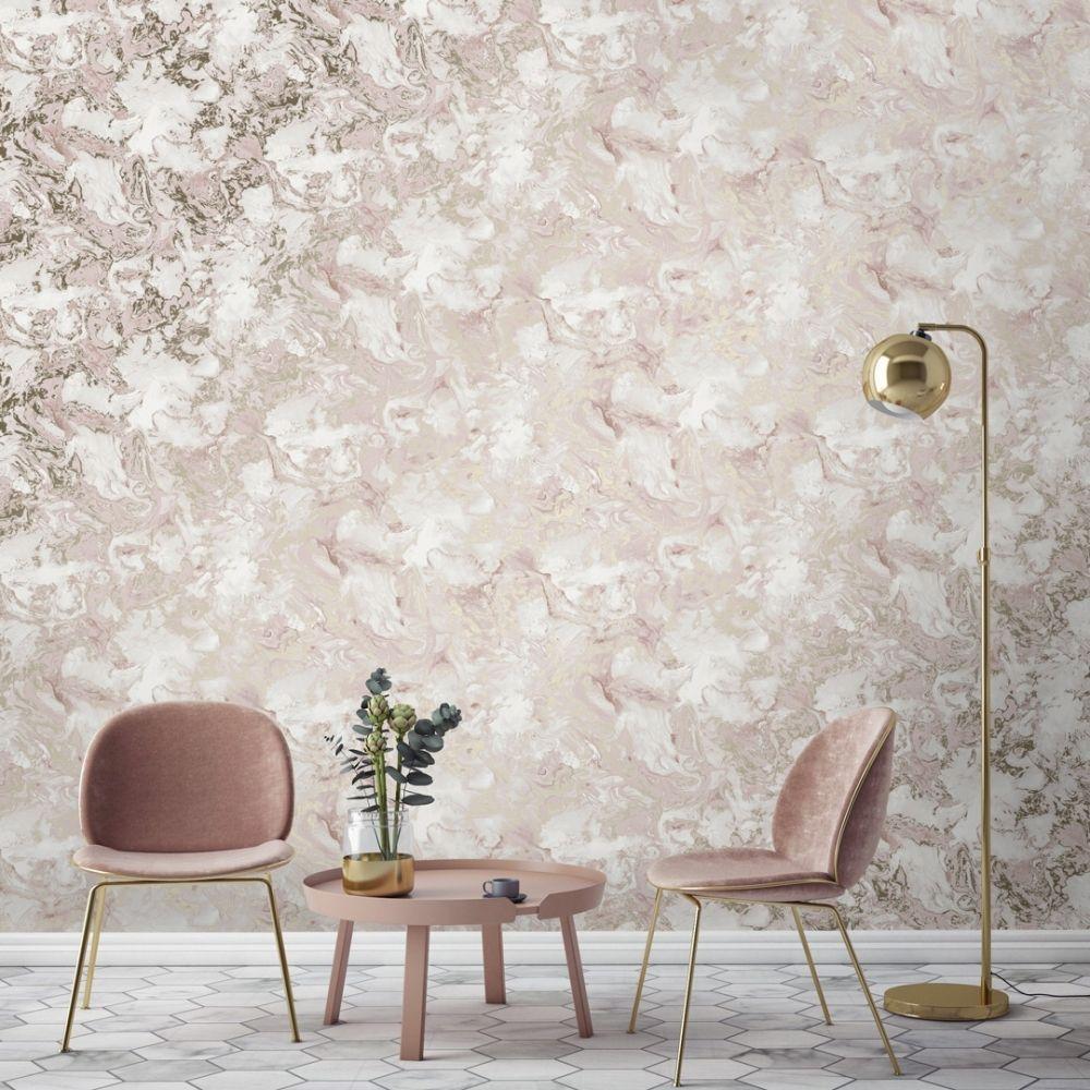 Liquid Marble Wallpaper Pink Gold Gold Wallpaper Living Room Gold Marble Wallpaper Marble Wallpaper Bedroom