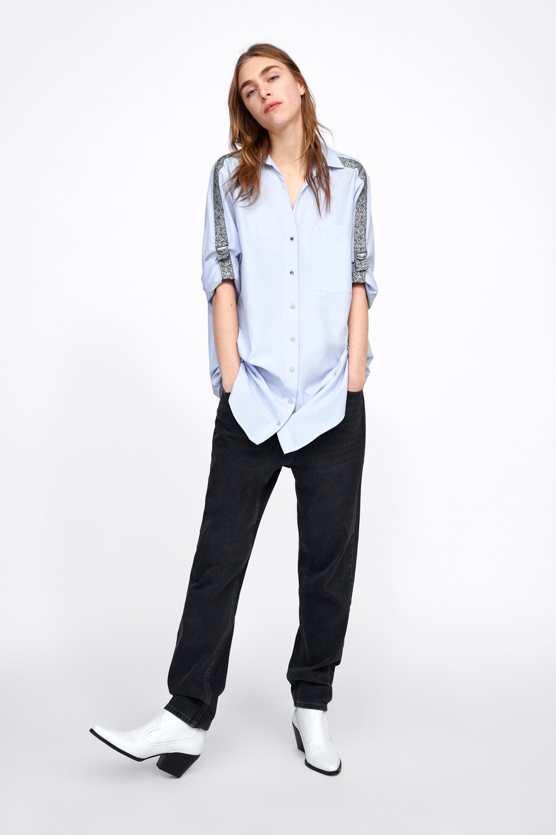 a355c00cfd9615 SHIRT WITH ANIMAL PRINT SIDE STRIPES - SPECIAL PRICES-WOMAN | ZARA United  States