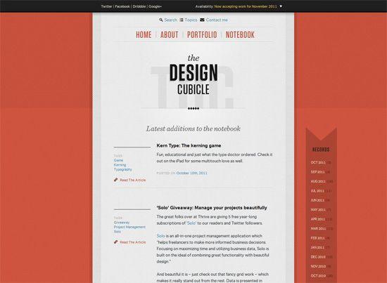blog the design cubicle - Blog Inspiration Design