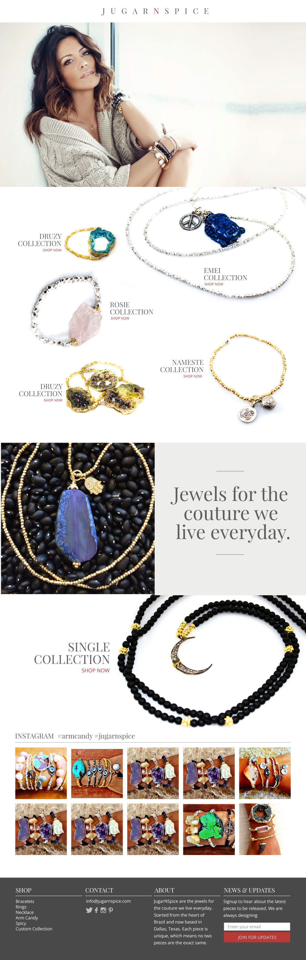 Brand and Website Design/Development for JugarNSpice Jewelry : Robyn Larsen