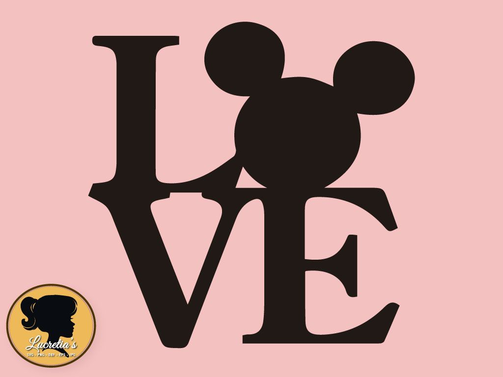Download Mickey Love SVG Peace Love Silhouette Mickey Love Mouse ...