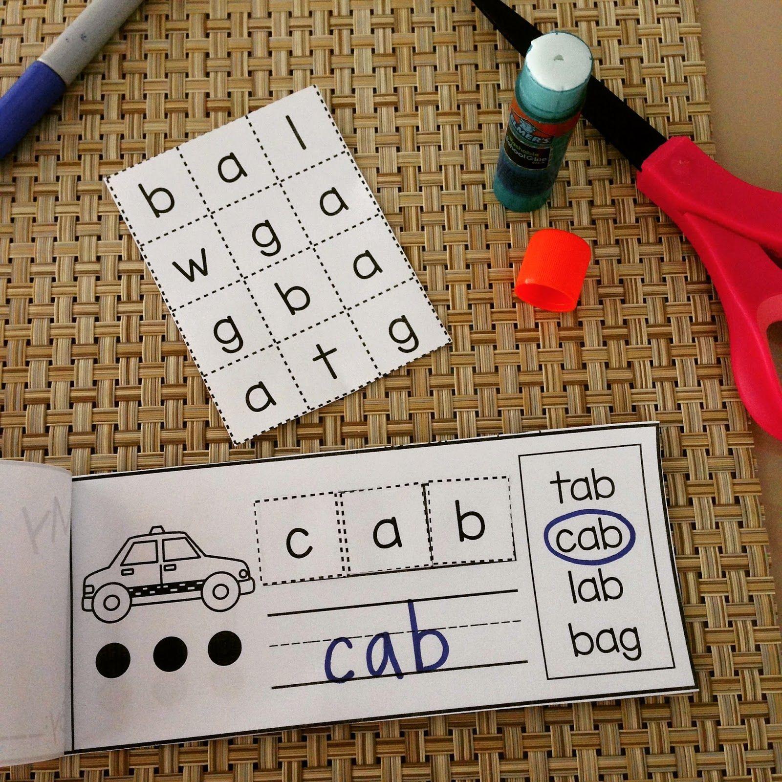 Interactive Word Family Books Kindergarten Cvc Words