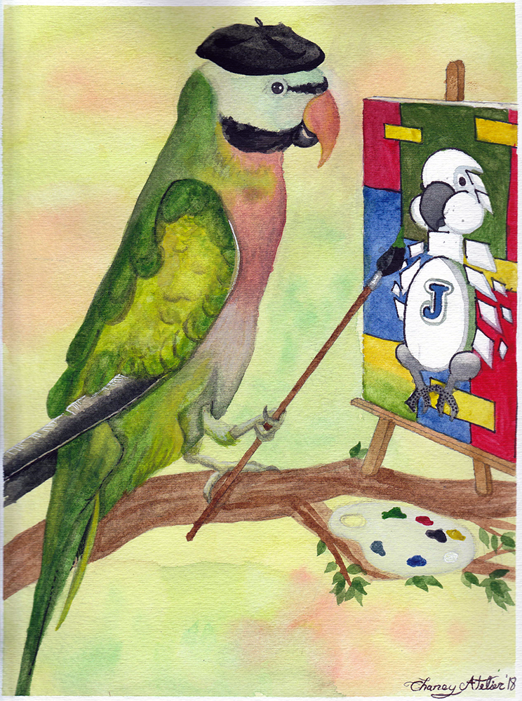 Picasso the Mustache Parakeet- PLEASE HELP LOOK FOR THIS