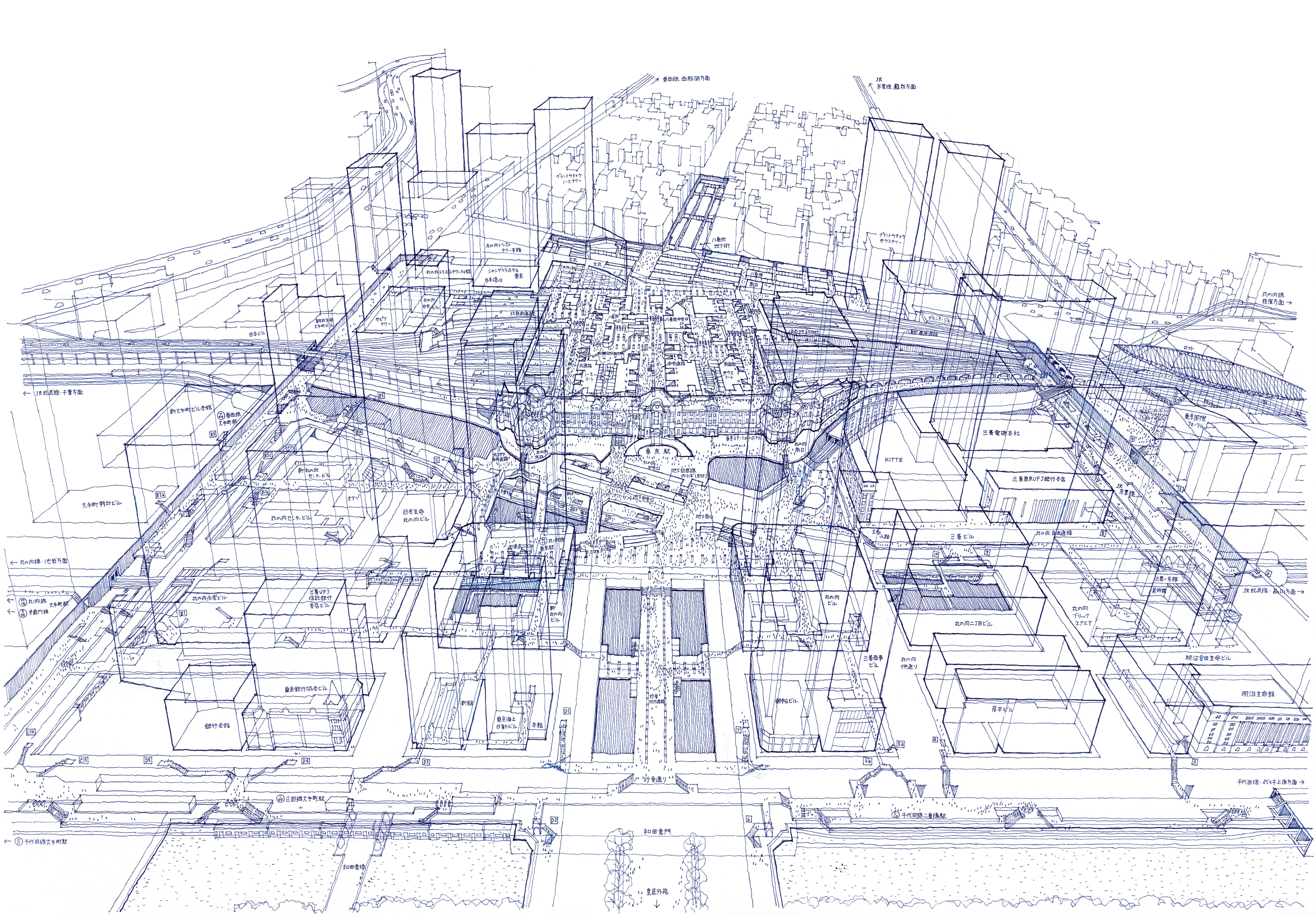 Lose yourself in tomoyuki tanakas x ray illustrations of tokyo lose yourself in tomoyuki tanakas x ray illustrations of tokyo train stations tokyo stationarchitecture drawingsarchitecture solutioingenieria Image collections