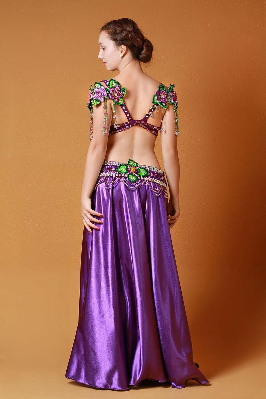 Belly dance costume Violets | Bellydance | Pinterest | Traje, Baile ...
