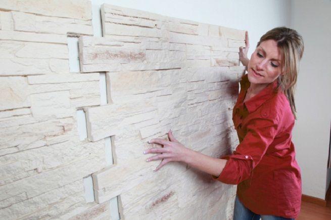 Paneles decorativos para el jard n sala de estar en 2019 for Ladrillos falsos decorativos