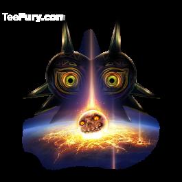 Operation Moonfall Teefury Teefury Pop Culture Tshirts Majoras Mask Moon