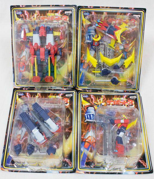 無敵超人ザンボット3 無敵合体ロボ 全4種 / ザンボエース ザンバード ザンブル ザンベース