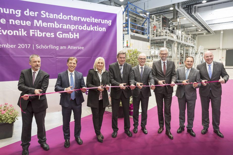 Evonik opens new membrane production facility at its