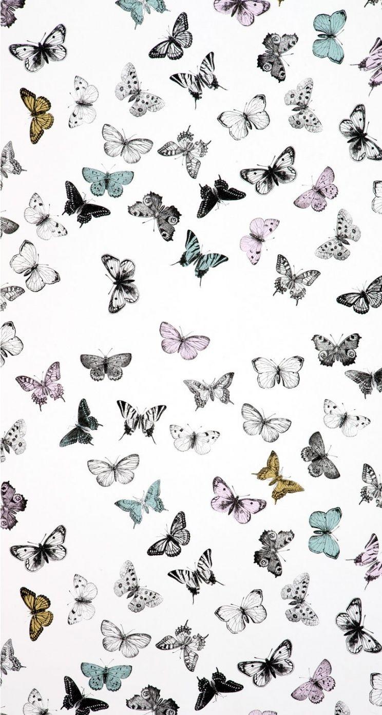 Butterflies Pattern Butterfly Wallpaper Iphone Iphone Wallpaper Vintage Butterfly Wallpaper