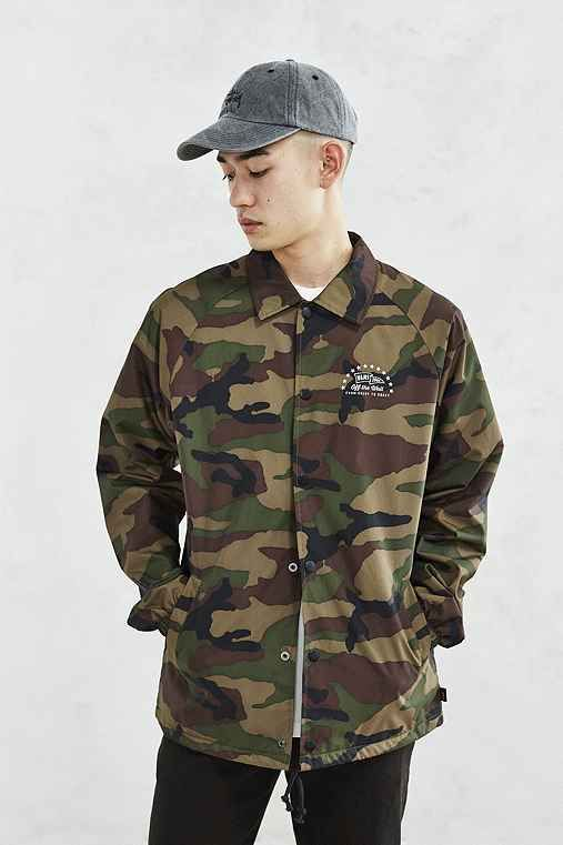 612ca6a5978 Vans Torrey Camo Coaches Jacket - Urban Outfitters