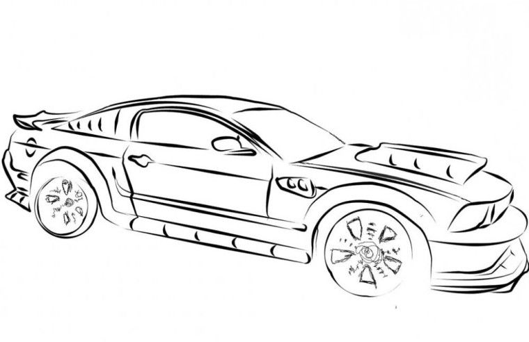 Mustang Cars Coloring Pages | My Super Hubby | Pinterest