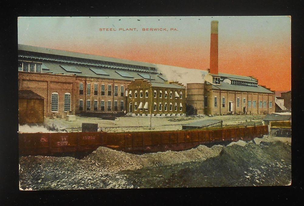 1913 Steel Plant Railroad Flat Cars Dl W Rr Berwick Pa Columbia Co Pc
