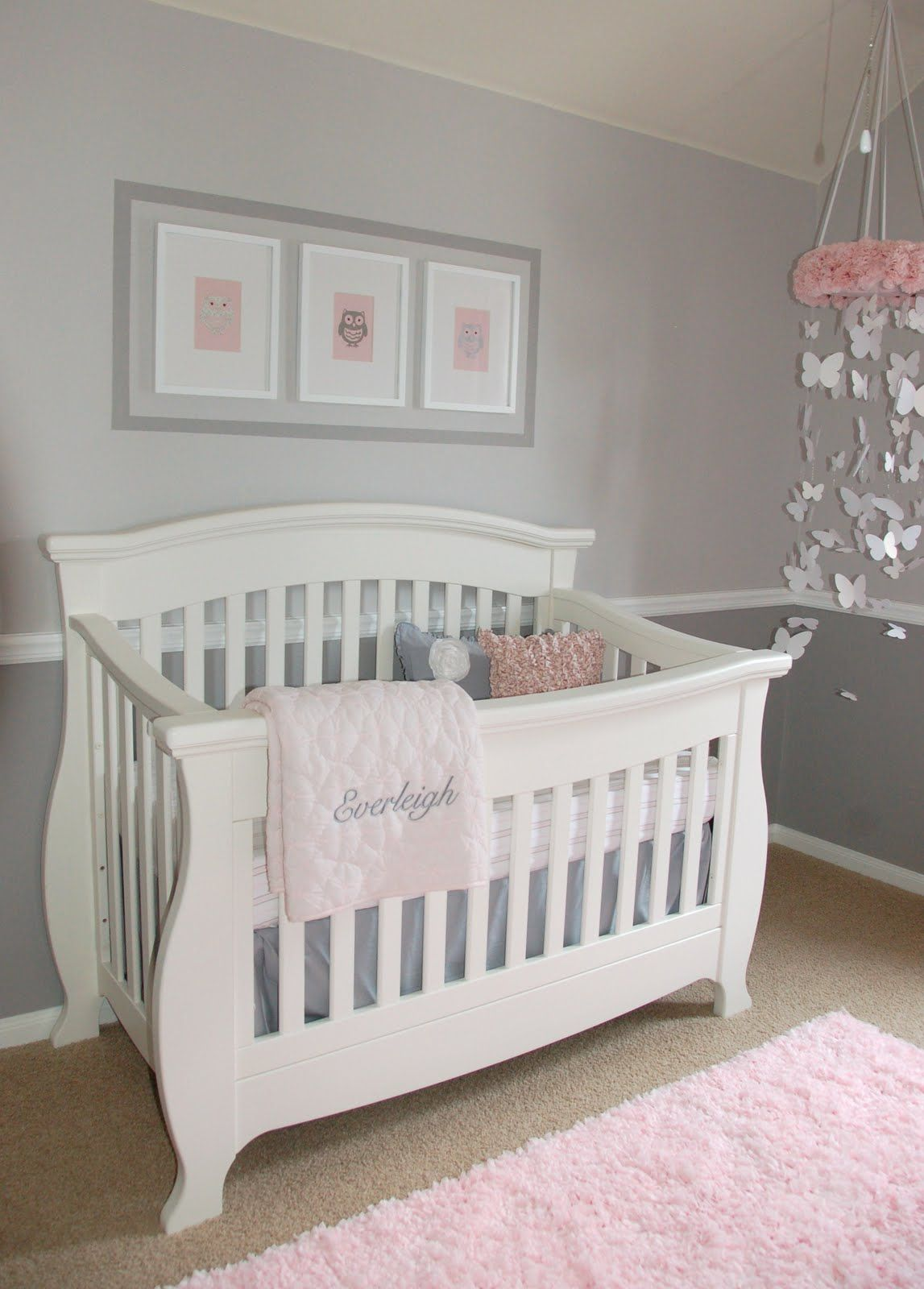 Pink And White Nursery Ideas Love This Nursery I 39m Such A Sucker For Grey Babies