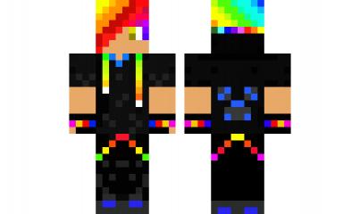 Minecraft Skin Rainbow Guy OMG CREEPERS Pinterest Minecraft - Minecraft schone holzhauser