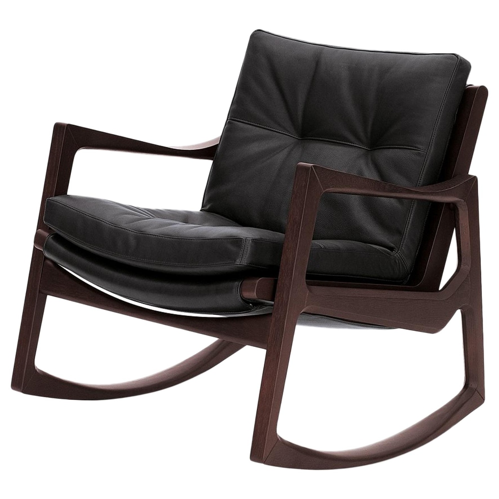 ClassiCon Euvira Rocking Chair in Stained Oak and Black