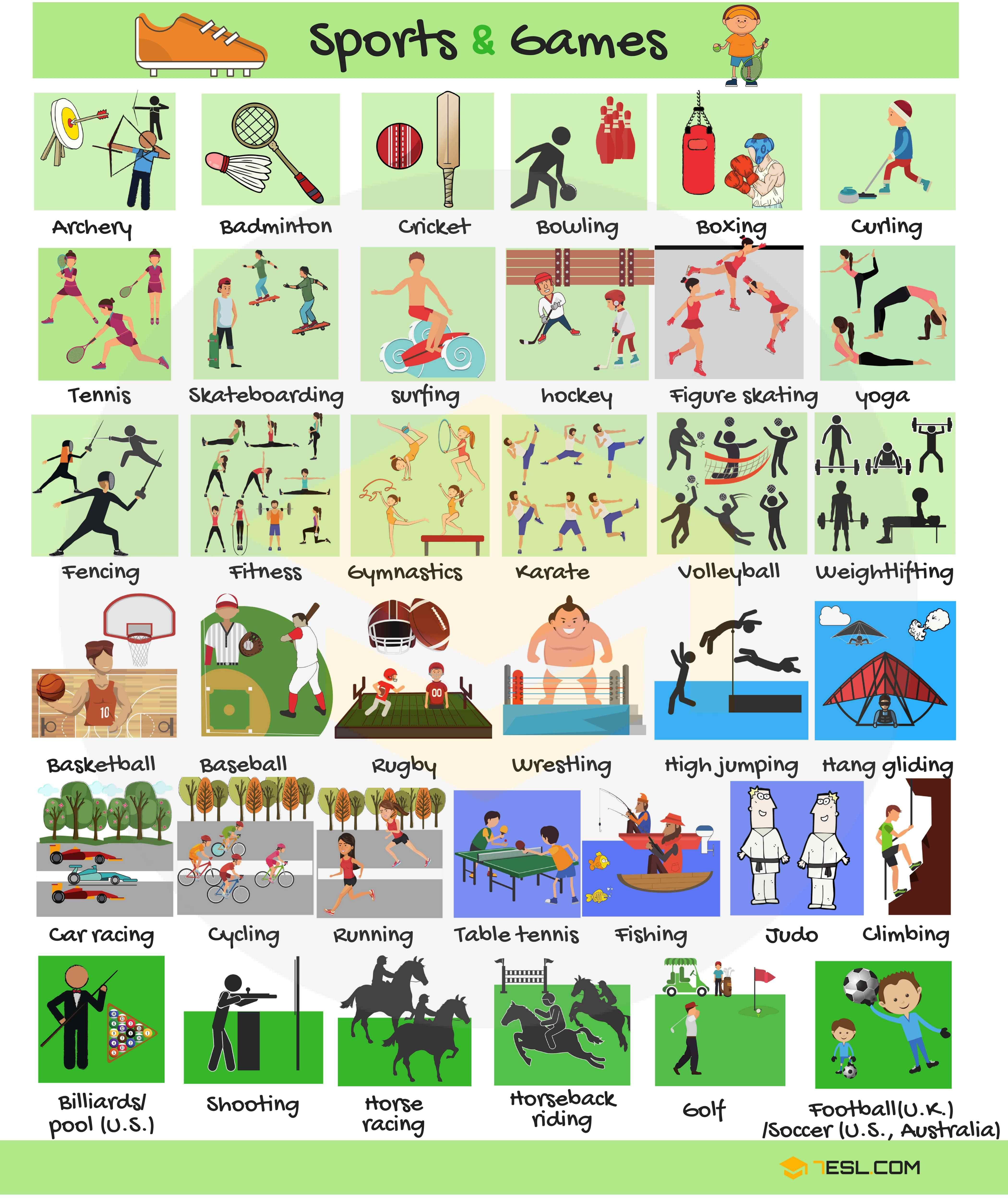 Learn English Vocabulary For Sports And Games