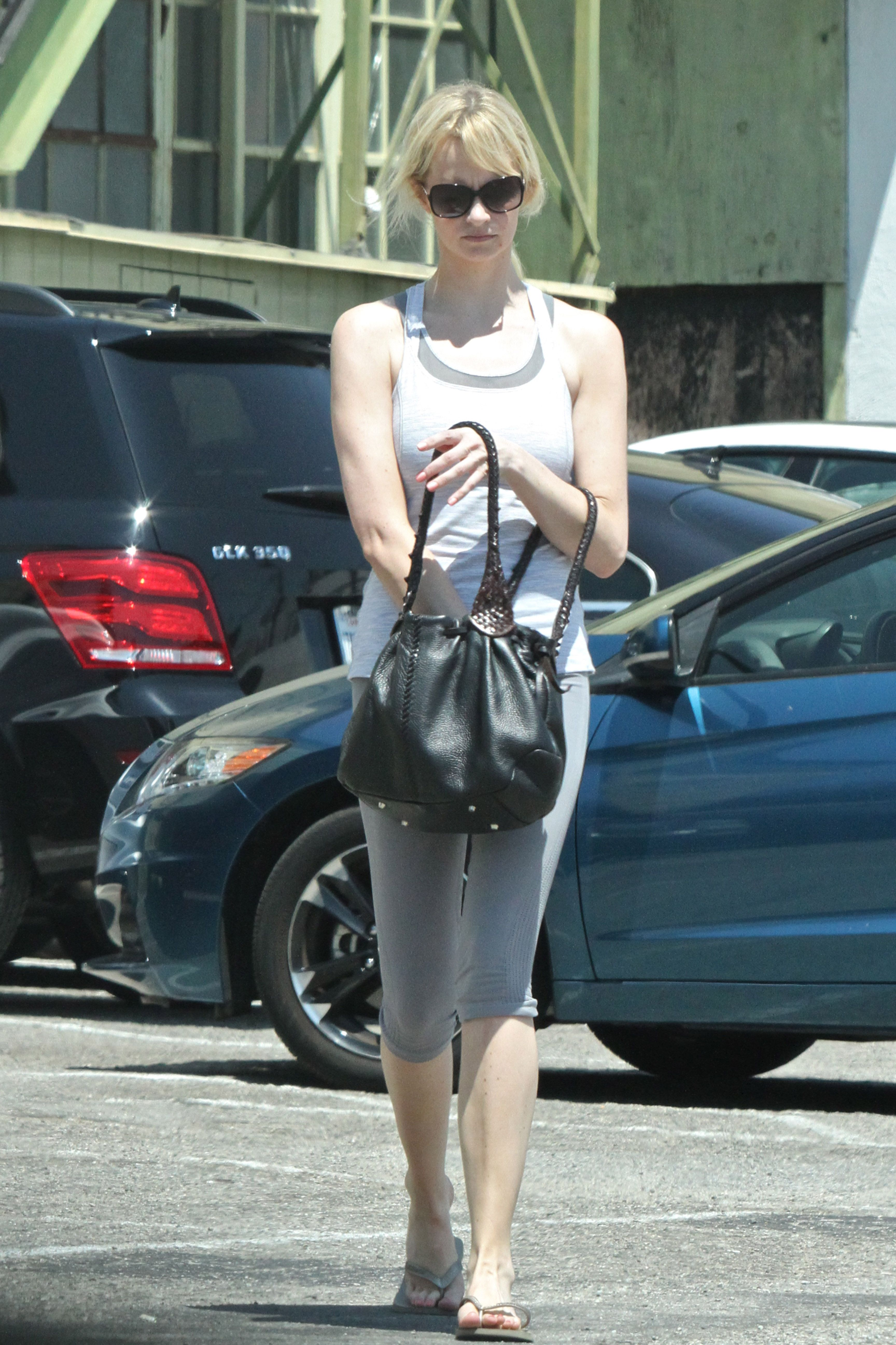 January Jones out in West Hollywood 8/1/16