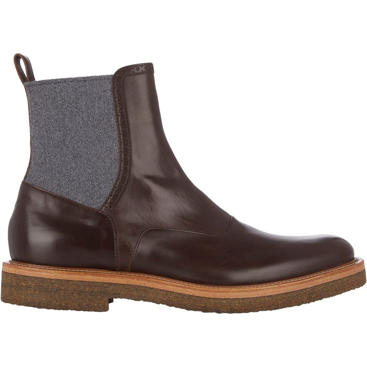 Dries Van Noten Wool-Insert Chelsea Boots  31de4ef96