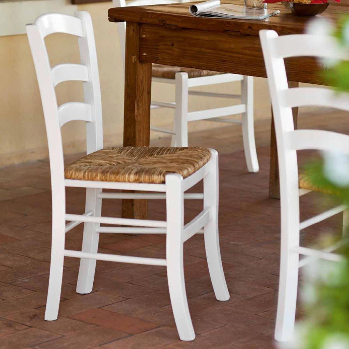 Sedia #Paesana in #paglia vera, stile #rustico e #country