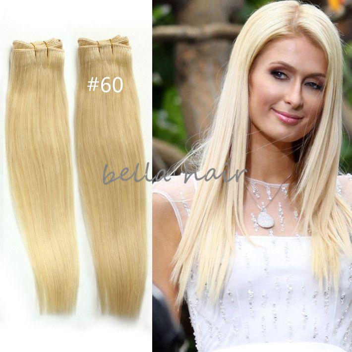 14 24 Brazilian Hair Malaysian Indian Peruvian Hair Blonde Human